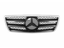 Хром/црна решетка тип AMG за Mercedes E класа W210 1999-2001