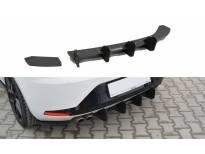 Добавка Maxton Design за дифузьор на задна тунинг броня за Seat Leon III FR 2012-2016, черен мат