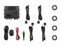 Паркинг систем ОЕМ со звучна сигнализација со 4 црни СЕНЗОРИ