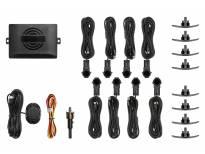 Парктроник система OEM со звукова сигнализация с 8 црни Сензора