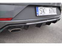 дифузер Maxton Design за заден тунинг браник за SEAT Leon Mk3 Cupra после 2017 година, црн лак