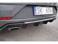 дифузер Maxton Design за заден тунинг браник за SEAT Leon Mk3 Cupra после 2017 година, црн мат