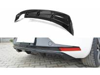 дифузер Maxton Design за заден тунинг браник на Seat Leon III FR 2012-2016, црн лак