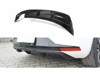 дифузер Maxton Design за заден тунинг браник на Seat Leon III FR 2012-2016, црн мат