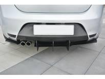 Добавка Maxton Design верзија 2 за дифузер на заден тунинг браник за SEAT Leon Mk2 Cupra, FR 2005-2012, црн мат