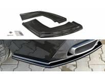 Сплитери за задна броня тип M-pack за BMW X6 F16 след 2014 година, визия лак
