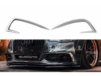 Вежди Maxton Design за предна S6, S-Line броня на Audi A6 C7 2011-2014, хром