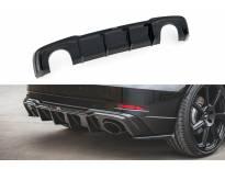 Дифузьор Maxton Design версия 2 за задна RS3 броня на Audi A3 8V Sportback след 2017 година, черен мат