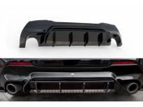 Дифузьор Maxton Design версия 1 за задна M Technik, M135i броня на BMW серия 1 F40 след 2019 година, черен лак