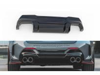 Дифузьор Maxton Design версия 2 за задна M Technik, M135i броня на BMW серия 1 F40 след 2019 година, черен лак