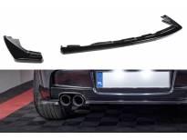 Добавка Maxton Design за дифузьор за задна M Technik броня на BMW серия 1 E81, E87 2007-2011, черен лак