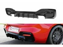Дифузьор Maxton Design за M Technik задна броня за BMW серия 1 F20, F21 след 2015 година, черен лак