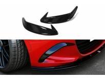 Вежди Maxton Design за предна броня на Mazda MX-5 след 2014 година, черен лак