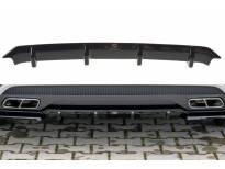 Дифузьор Maxton Design за задна AMG броня на Mercedes A45 W176 2013-2015, черен мат