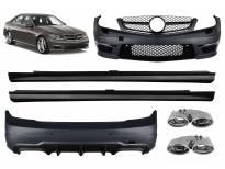 AMG пакет тип C63 за Mercedes C класа W204 седан 2011-2014 с накрайници и решетка