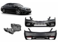 AMG пакет тип S63 за Mercedes S класа W222 след 2017 година дълга база, без прагове