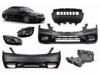AMG пакет тип S63 за Mercedes S класа W222 2017-2020 с LED фарове, без прагове