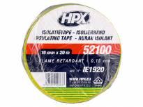 PVC изолациска лента HPX тип VDE 19mm/20m Жолто-зелена