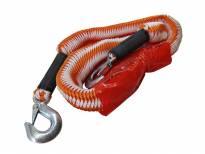 Оранжево јаже за теглене Petex с карабинерни куки до 2000кг.