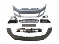 преден браник тип R20 за VW GOLF VI 2008-2013 без PDC/без DRL/со црна решетка/со прскалки
