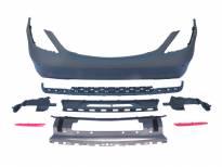 заден AMG браник тип S63/S65 за Mercedes S класа W222 2014 => с PDC/ 2 дифузер/ 2 накрајник -oo--oo-
