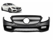 Предна AMG броня тип C63 за Mercedes C класа W205 седан, S205 комби след 2013 година с PDC