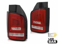 Комплект тунинг LED стопове за VW T6 2015-2019 червено бяла основа, ляв и десен