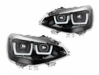 LED фарови Osram за BMW серија 1 F20,F21 2011-2015 со црна основа за модела со халогени фарови