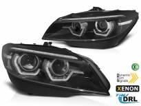 Комплект ксенонови фарове с 3D ангелски очи за BMW Z4 E89 2009-2013 за AFS, черна основа, ляв и десен