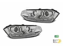 Комплект LED фарове за VW Polo след 2017 година, хром основа, ляв и десен