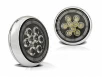 Комплект LED халогени за решетка на Mini Cooper всички версии хром, ляв + десен