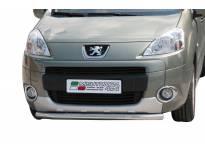 Ролбар Misutonida по цялата дължина на бронята за Peugeot Partner след 2008 година с капачки от неръждаема стомана