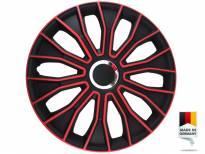 """Декоративни раткапни PETEX 14"""" Voltec pro black/red, 4 бројки"""