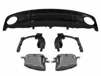 Дифузьор тип RS7 за задна S-line броня за Audi A7 2015-2018 с двоен отвор/единичен елипсовиден накрайник -о--о-