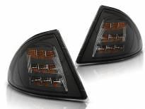 Комплект тунинг LED мигачи към фара за BMW серия 3 E46 седан/комби 1998-2001 опушени ляв + десен