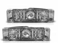 Комплект тунинг LED мигачи в бронята за VW Golf I 1974-1983/Golf II 1983-1991/Jetta 1984-1991 с хром основа ляв + десен