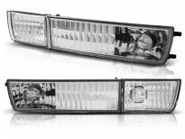 Комплект тунинг мигачи в бронята за VW Golf III 1991-1997/Vento 1992-1998 с хром основа ляв + десен
