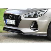 Спойлер за предна броня за Hyundai I30 хечбек след 2017 година, черен лак