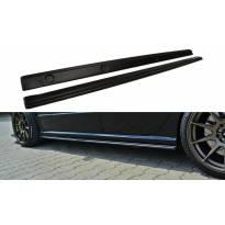 Добавки Maxton Design за прагове тип RS на Skoda Fabia I RS 2003-2007, черен мат