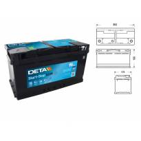 Акумулатор Deta Start & Stop AGM 95Ah 850 A сo десен (+)