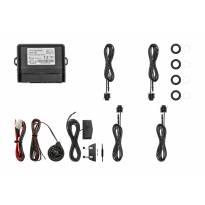 Паркинг систем Easypark со звукова и визуална сигнализациo со 4 СЕНЗОРИ црни