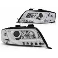 Тунинг фарови с LED светла за Audi A6 C5 05.1997-05.2001 седан/караван