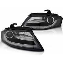 Тунинг фарови с истински DRL светла за Audi A4 B8 04.2008- 2011 седан/караван