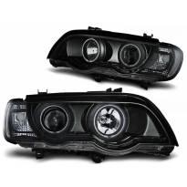 Тунинг фарови с CCFL ангелски очи и LED лента за BMW X5 E53 09.1999-10.2003
