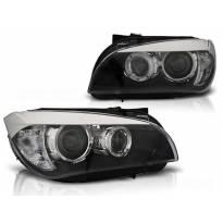 Тунинг фарови с халогенни ангелски очи за BMW X1 E84 10.2009-07.2012