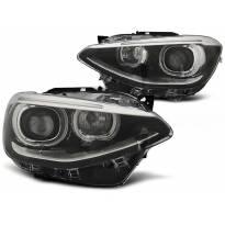 Тунинг фарови с ангелски очи и DRL светла за BMW 1 F20/F21 2011-12.2014