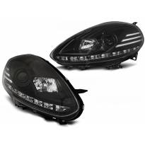 Тунинг фарови с истински DRL светла за Fiat PUNTO EVO 10.2009-2012